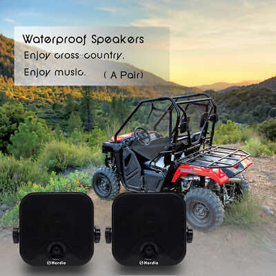 Waterproof Self-contained Pod Speakers With Mounting Brackets Boat Motorcycle