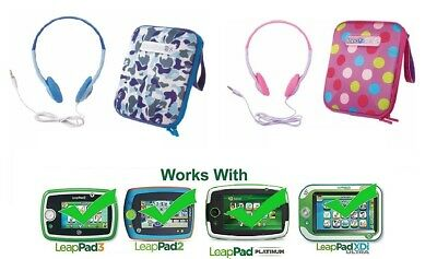 Accessory Pack - Carry Case & Headphones Ideal for LeapPad 2, 3, Ultra, Platinum
