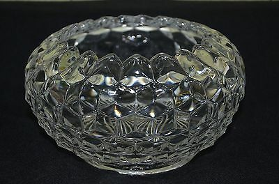 "Fostoria American deep round serving bowl 8 x 4.5 "" (18)"