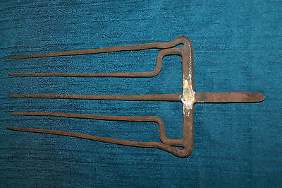 Extremely Rare 18th Century European Forged Iron Fishing 5 Spikes Trident Spear