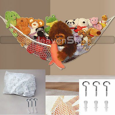 Large Toy Hammock Soft Teddy Mesh Baby Childs Bedroom Tidy Storage Nursery Net