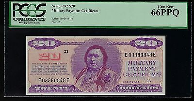 $20 Series 692  Military Payment Certificate MPC PCGS 66 PPQ  GEM