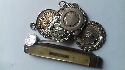 antique solid silver pocket watch fobs,scrap silver...