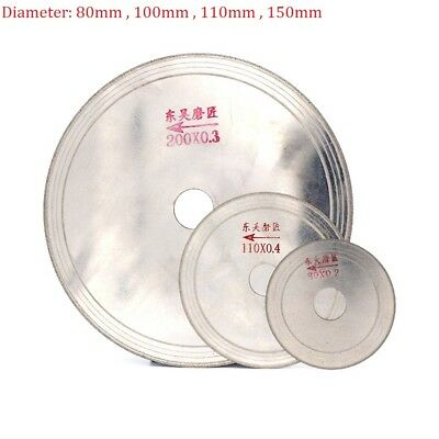 3'' 4'' 4.5'' 6'' Diamond Cutting Disc Saw Blade Jade Glass Crystal Super Thin
