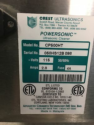 Crest Ultrasonic wash