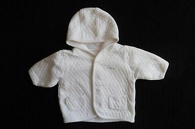 Baby clothes BOY newborn 0-1m NEXT white quilted lightweight hooded jacket