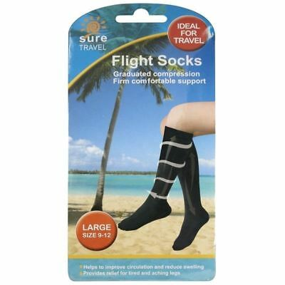 Sure Flight Socks Large Size 9-12 1 2 3 6 12 Packs