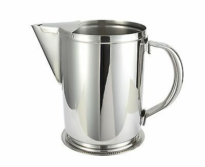 Winco Pitcher Stainless Steel 64 Ounce With Ice Guard Restaurant Quality