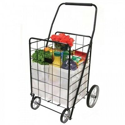 Small Shopping Cart Rolling Foldable Collapsible Wheeled Grocery Laundry Utility