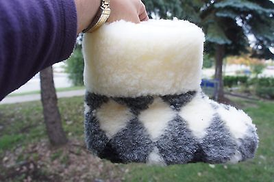 Sheepskin Slippers. 100%-Sheep wool. Made in Europe. No China. CXR/452