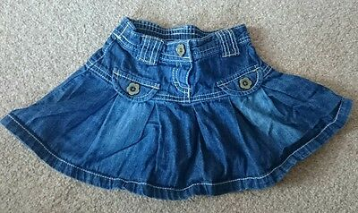 Next girls denim skirt size 9-12 months. Summer flower buttons