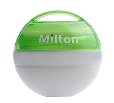 Milton Mini Portable Baby Soother Dummy Steriliser + 10 Free Tablets-Green