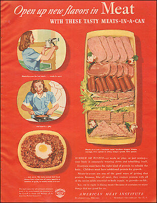 1946 Vintage ad for American Meat Institute`Sandwich span Photo  071817