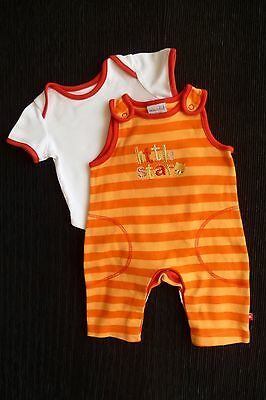 Baby clothes UNISEX BOY GIRL newborn 0-1m orange stripe,white,red dungarees/top