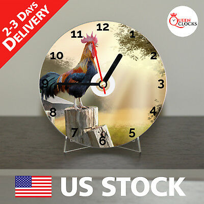 NEW Rooster CD Clock Chicken Vintage Country Decor Farm Hen Kitchen Art Gift USA