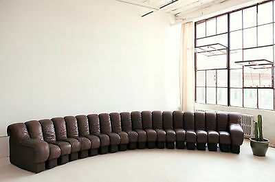 De Sede DS600 Non Stop Sofa in Brown Leather -- 20 elements