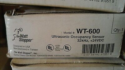 Watt Stopper Wt-600 Ultrasonic Occupancy Sensors With Isolated Relay; White 24Vd