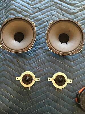 "Jensen Woofers 5 1/4"" And Tweeters From Stereo Console. Tested And Works"