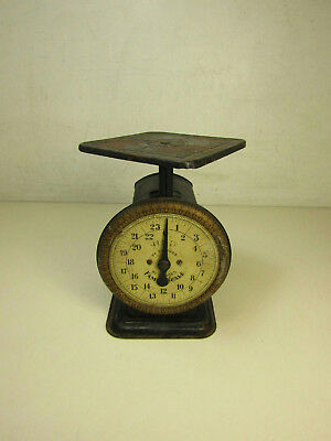 Vintage Antique Hub Family Scale 24 Pounds LBS By Ounces