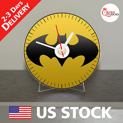 NEW Batman Logo CD Clock DC Comics Wall Modern Action Arkham City Gift Knight US