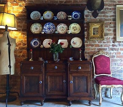 Stunning Antique Dresser Sideboard Welsh Solid Pine Early 20th Century Cottage