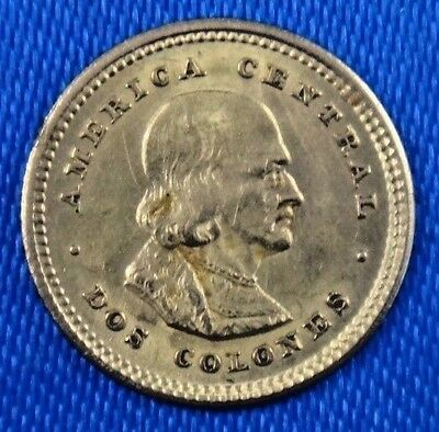 1922 Costa Rica 2 Colones Gold Coin