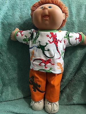 """Lizard themed T-shirt & pants fit 16-17"""" CPK--CLOTHES ONLY"""