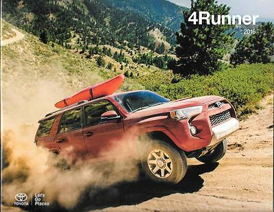 2016 16 Toyota 4Runner original sales brochure