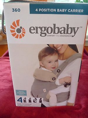 Ergobaby Four 4 Position 360 Baby Carrier Grey, Gray Ergo