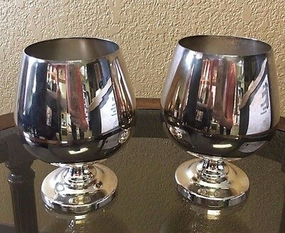 Poole Silver plated Oversized Brandy Snifters