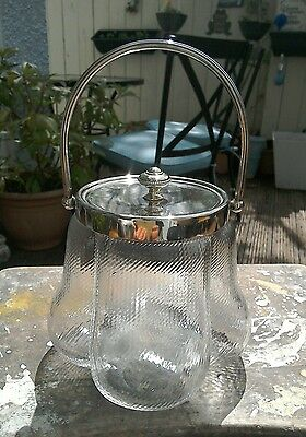 Silver Plated Topped Jar