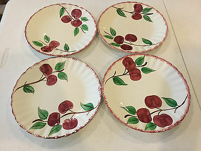 "Southern Potteries Crab Apple Pattern 9 1/4"" Dinner Plates Set of 4 !! Set #2"