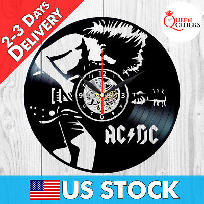 AC DC ACDC Axl Rose Rock Band Vintage LP Vinyl Record Wall Clock Gift Ideas Rare