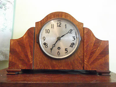 Art Deco Westminster & Whittington chime mantle clock working order