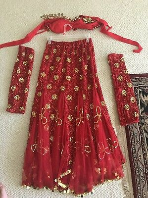 Belly Dance Costume Beautiful Size S/M With Sleeves