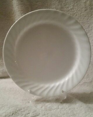 "Corelle ""Enhancements White Swirl"" Lunch Plate"
