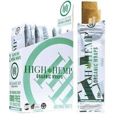 4 Boxes High Hemp Organic Wraps GMO-Free - 100 Packs, 2 wraps in each pack -5044