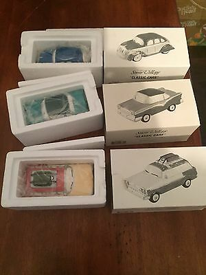 Dept. 56 SNOW VILLAGE CLASSIC CARS 3 CAR SET NEW IN BOX