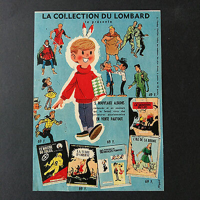 Supplément Tintin 19 novembre 1958 Collection du Lombard Superbe image