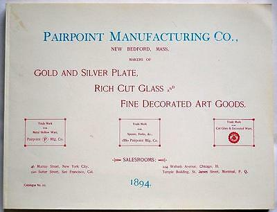 1894 Pairpoint Manufacturing Co. Gold Silver Plate Catalog Reprint & Price Guide