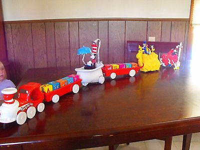 Rare Complete Ertl Dr Seuss Train Cat In The Hat. Great For Nursery & Collectors