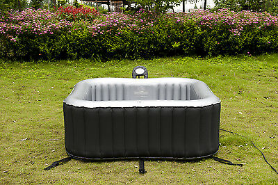 New M Spa  Alpine Square 6 Seat Inflatable Spa Mspa Hot Tub - Now In Stock