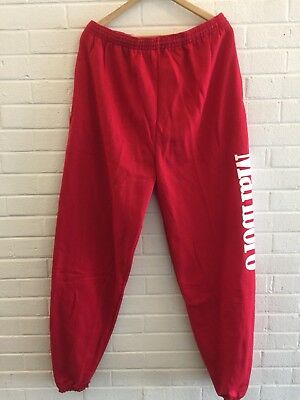 NWOT Vintage MARLBORO Sweat Pants Adventure Deadstock Red Men's XL