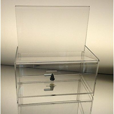 Clear Mail & Suggestion Boxes Acrylic Easy Drop Donation Box