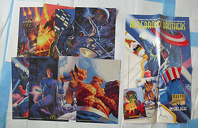 Lot of 8 1994 Fleer Marvel Masterprints Large Glossy Cards with Promo Poster