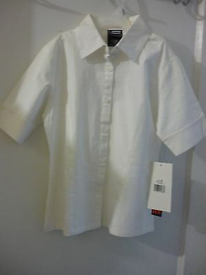 Girl's French Toast Tapered  Stretch Uniform Blouse Size:8   NWT