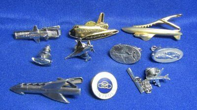 Vietnam War Era USAF Air Force Tie Clips and Pins Lot Of 10