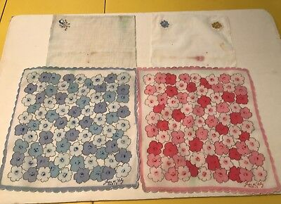 Lot of 2 Paris Handkerchiefs with 2 more thrown in