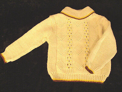 Vintage Sweater 12 mos. Child's Boy's Beige A Little Angel Original Brand NWOT