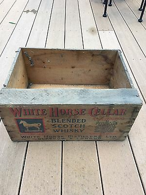 Vintage White Horse Cellar Scotch Whisky Wood Crate Box Only